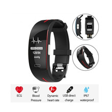 Ip67 Smart Bracelet Ecg Ppg Blood Pressure Heart Rate Monitor Fitness Tracker Pedometer Sports Smart Wristband For Android Ios