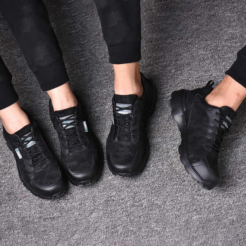 CHAISHOU erkek kadın çift iş ayakkabısı çift nefes dantel-up çelik ayak Anti-smashing anti-piercing rahat güvenlik çizmeler CS-150