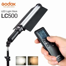 Godox LC500 Handle LED Light Stick 3300K-5600K Adjustable Built-in lithiunm Battery + Remote Control Lighting + AC Power Charger