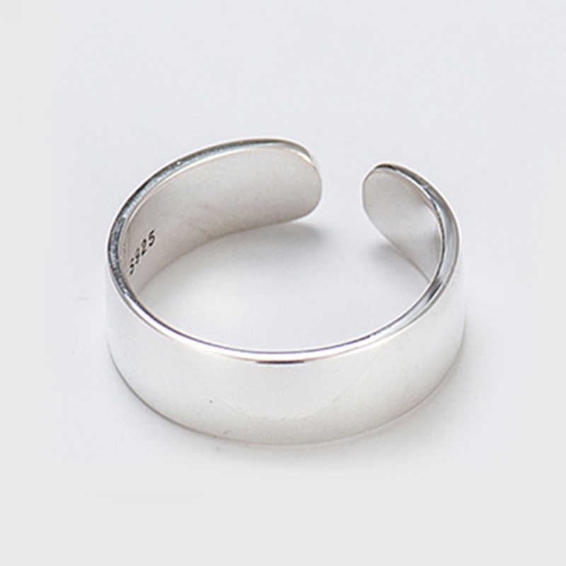 ของแท้ 100% 925 เงินสเตอร์ลิงเรียบรูปแหวนผู้หญิง Vintage Vintage Chai แหวนเงินเครื่องประดับ Drop Shipping