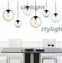 fashion Crystal Ball yc pendant Vintage bulb Dining Room Living Room Bar Light Modern Crystal Chandelier Dia 25cm