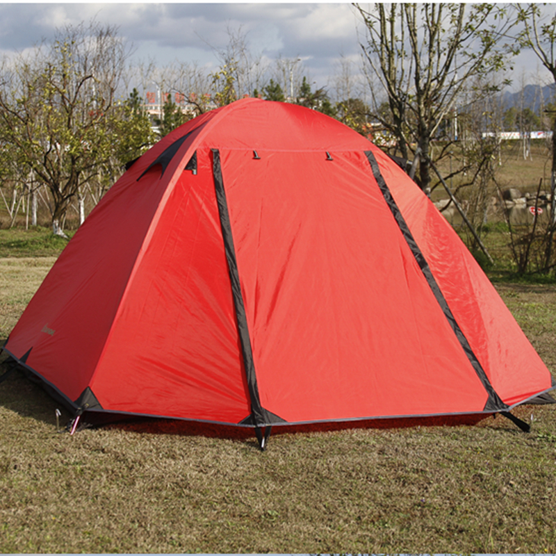 Tents Outdoor Camping Waterproof Tents 2 Person Lightweight Tent Aluminum Rod Double Layer Tent large family tent 10 12 person camping tent double layer 2 living rooms 1 hall 4 season tents outdoor camping big gazebo tent