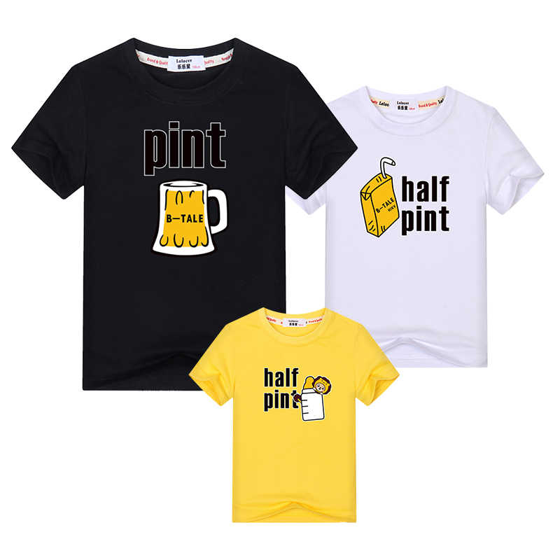 636e606a6 Mom dad's beer tops kids milk fun shirt Family Matching Outfits clothes mother  daughter new dresses