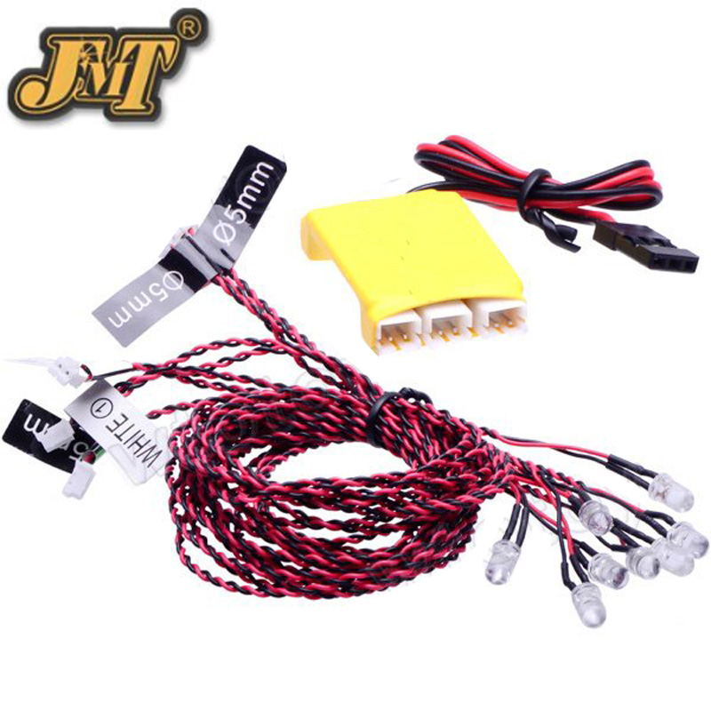 JMT DIY FPV Drone 8 LED Multi-color Flashing Light For RC Car Helicopter Multicopter Quadcopter