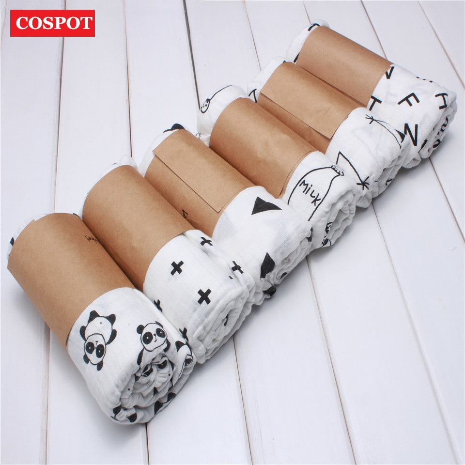 COSPOT Baby Muslin Bath Towel Newborn Swaddle Blanket Infant Double Gauze Towel Hold Wraps 1.2m*1.2m 180g 2018 New Arrival 30D
