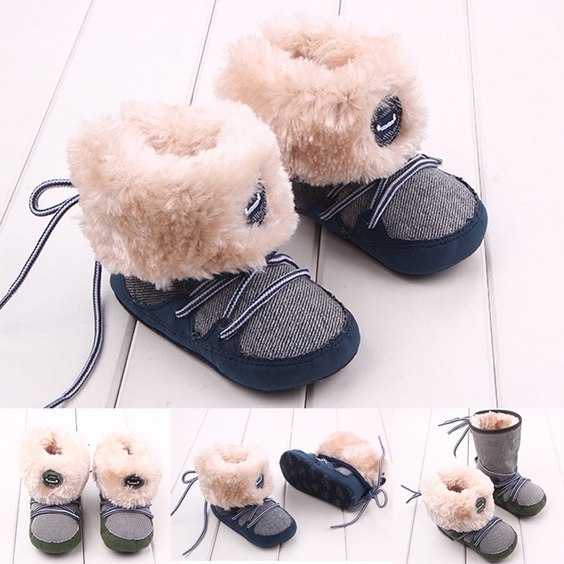 Winter Warm First Walkers Baby Boots Infant Baby Girl  Kids Shoes Newborn Bebe First Walkers Cotton Padded Infant Toddler YL247