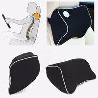 Car Seat Head Neck Rest Massage Memory Foam Cushion Pillow Support Headrest