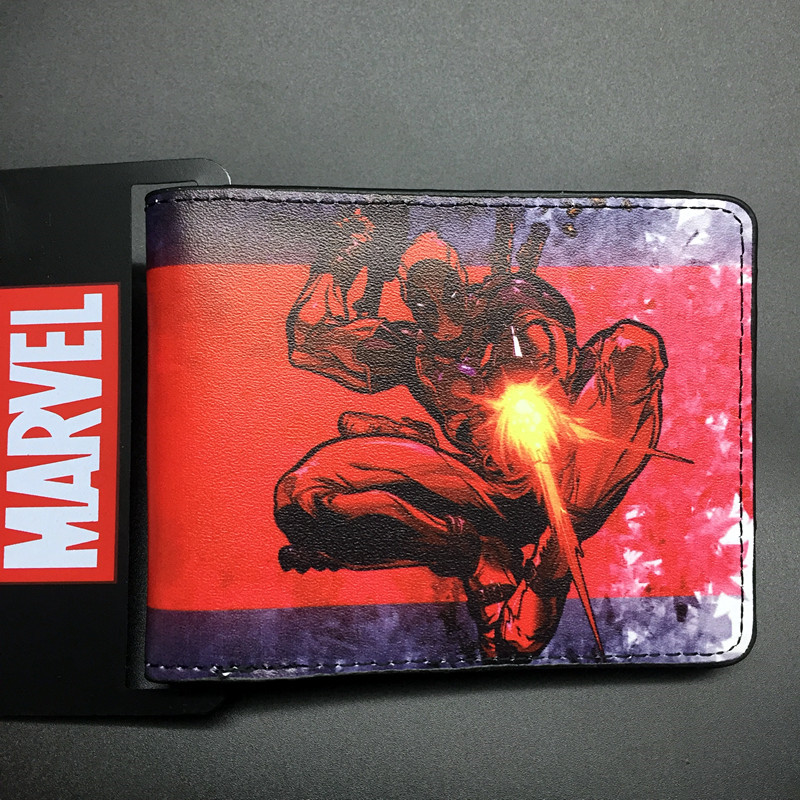 все цены на Comics Dc Marvel the dealpool New Mutants Cartoon Wallet Wade Winston Wilson 3D Purse Logo Credit Card Holder Man Wallet онлайн