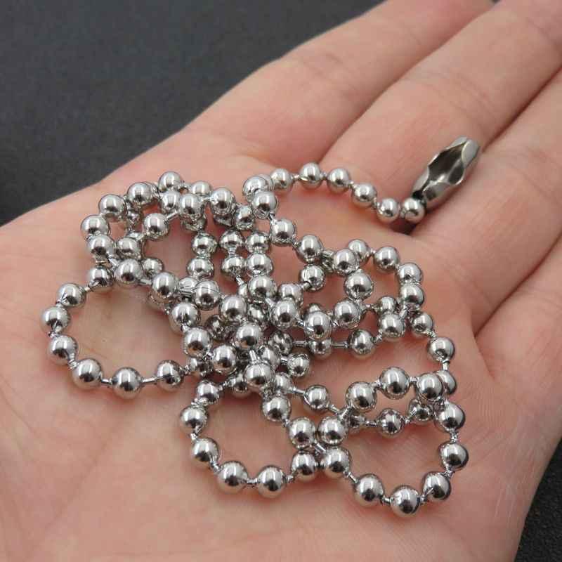 1.5/2/2.4/3/4/5/6/8mm breloczek ze stali nierdzewnej, koralik Dogtag Chain, pływający medalion naszyjnik moda części biżuterii