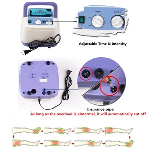Image 5 - Air Compression Massager Handheld Controller Blood Circulation Pump Wrap Set for Double Arm Leg Cuff Waist Relax Massage