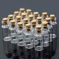 Hot 30pcs 1ML Cute Mini Messages Wishing Glass Bottle Vials Charms Pendants Clear Transparent Bottles Cork 12x24mm