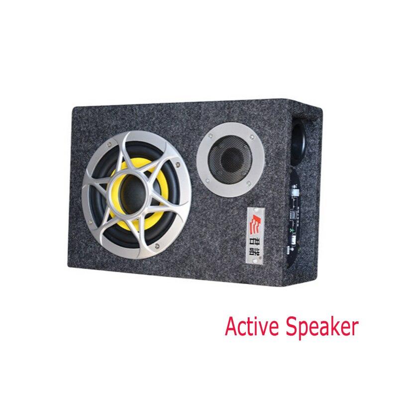 Мощный 1000 Вт 6 дюймов 12 в автомобильный аудио hifi портативные активные колонки сабвуфер авто бум бокс сценический динамик сабвуферы