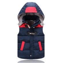 子のチョッキ子供上着冬のコートの子供服暖かいフード付きコットンベスト年齢2 12歳