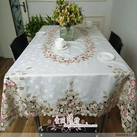 Rustic Cloth Embroidery Dining Table Cloth Big Table Cloth Tablecloth Table Mat Cutout Cover Towel White Rose Aliexpress Com Imall Com