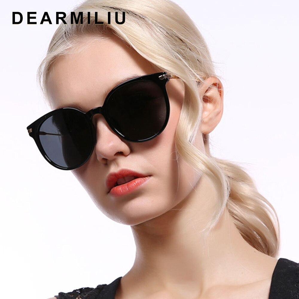 DEARMILIU Design Retro Polarized Sunglasses Women Mirror Driving Retro Frame Cat Eye Sun Glasses UV400 Gafas De Sol For Women