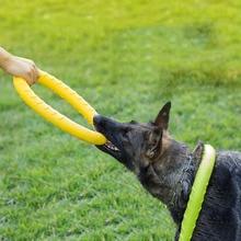 Собака летающие диски обучение игрушка прочные ПЭТ укус Перетягивание Каната интерактивные игры игрушки резиновые диски для наружной Путешествия Спорт прямая поставка