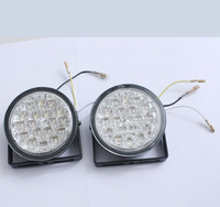 High Quality 2015 New 2pcs 12V 18 LED Round Car Driving Daytime Running Light DRL Headlight