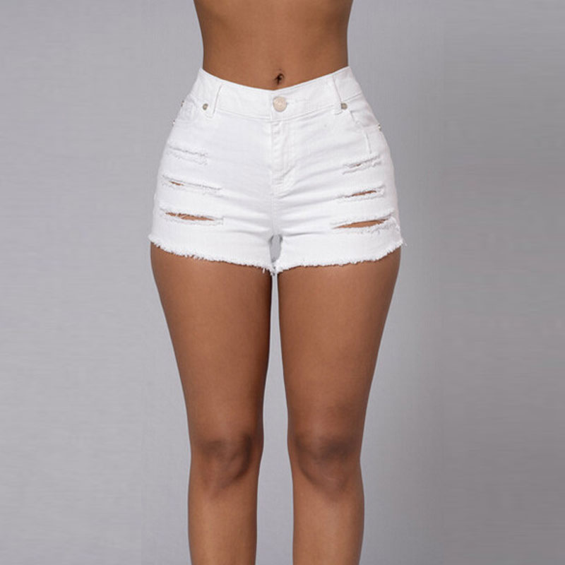 Compare Prices on Women Plus Size Ripped Shorts- Online Shopping ...