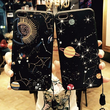 Glossy Space Stars Planet Phone Case For iPhone X XR XS Max 8 7 6 6s Plus Constellation Pattern Hard PC Glass Back Cover
