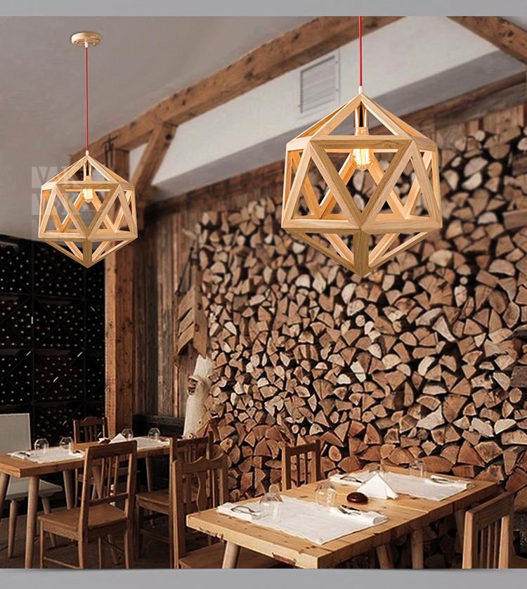 الماس الطبيعي النقي الحديثة الخشب يجعل قلادة مصباح خمر الخشب Droplight شحن مجاني-في أضواء قلادة من مصابيح وإضاءات على top-rated seller in lighting