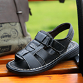 2016 summer men 's leather sandals leather sandals men breathable leather open-toed sandals everyday casual male sandals