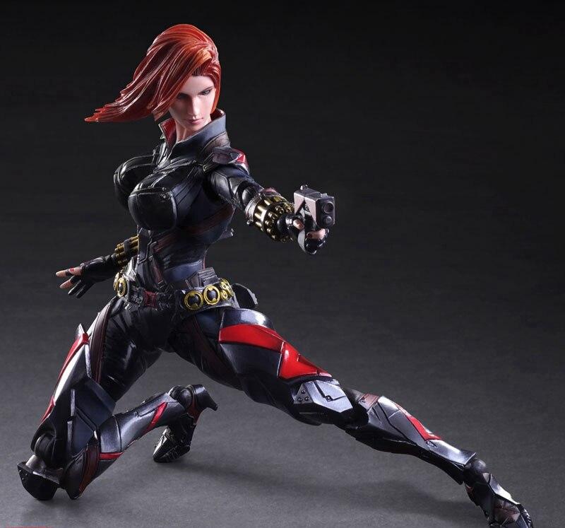 Play Arts Kai Black Widow Super Hero Age of Ultron Natasha Romanoff PA 27cm PVC Action Figure Doll Toys Kids Gift Brinquedos