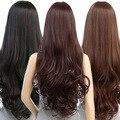 Mulheres Da Moda Lolita Curly Ondulado Longo Cosplay Partido Cabelo Cheio Peruca Resistente Ao Calor