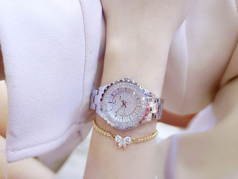 Kobiety Rhinestone Zegarki Pani Diament Stone Dress Watch Bransoletka - Zegarki damskie - Zdjęcie 5