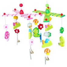 Kids Hanging Toys Baby Rattles Wooden beads wind bell bed children room hanging decorations Tent decoration Photography Props