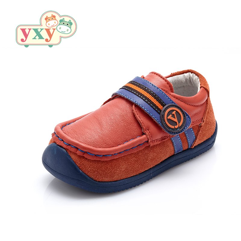 YXY genuine children s leather soft sole shoes baby boys kids anti slip outsole hook loop