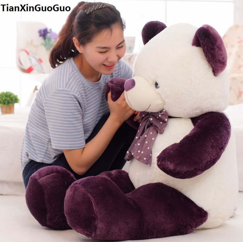 new arrival stuffed plush toy dark purple teddy bear doll large 100cm soft throw pillow toy Christmas gift b2790 stuffed animal 140cm white teddy bear plush toy soft doll throw pillow gift w1690