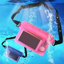 CRUSHONU Водонепроницаемая спортивная сумка поясная сумка для плавания Дрифтинг Дайвинг поясная сумка Подводный сухой телефон карман