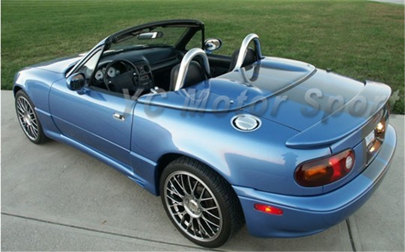 Car Accessories FRP Fiber Glass Racing B Style <font><b>Rear</b></font> <font><b>Spoiler</b></font> Fit For 1990-1997 MX-5 <font><b>MX5</b></font> Miata Trunk Wing Car-styling image