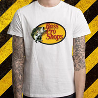New BASS PRO SHOPS Logo Fisher Hunting Men S White T Shirt Size S To 2XL