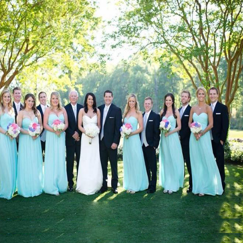 Blue wedding party pictures blue wedding themes red theme for Light blue dress for wedding