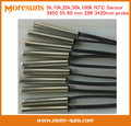 Fast Free Ship 20pcs/lot NTC thermistor temperature sensor available in 5k,10k,20k,50k,100k 3950 5% length 60mm 28# 3*20 NTC