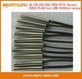 Fast Ship Livre 20 pçs/lote termistor NTC sensor de temperatura disponível em 5 k, 10 k, 20 k, 50 k, 100 k 3950 5% comprimento 60mm 28 #3*20 NTC