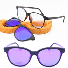 22d428120585 prescription polarized sunglasses 012 ULTEM walkers shape glasses with  removeable megnatic clip on eyeglasses lenses(