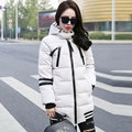 Long Winter Women Clothing New 2017 High Quality White Duck Down Coat Fashion Plus Size Hooded Thick Warm Outerwear Parkas Y285