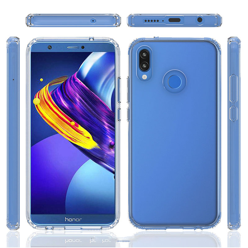 For Huawei P20 Lite Case Hybrid TPU Frame Bumper Clear Hard PC Acrylic Back Cover For Huawei Nova 3E Case 5.84 P20 Lite Capas