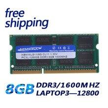 PC3-12800L 1600Mzh 8 GB DDR3L 1.35 V 1.35 V Garantia Vitalícia de Memória Ram Memoria para Computador Portátil Frete Grátis