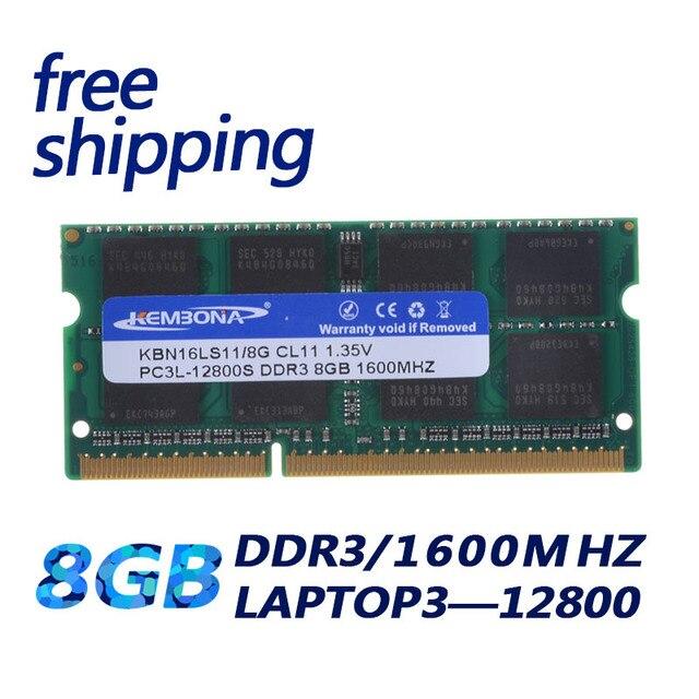 KEMBONA Laptop Computer DDR3 8GB 1600Mzh 8G DDR3L 1,35 V PC3 12800L 1,35 V Speicher Ram Memoria