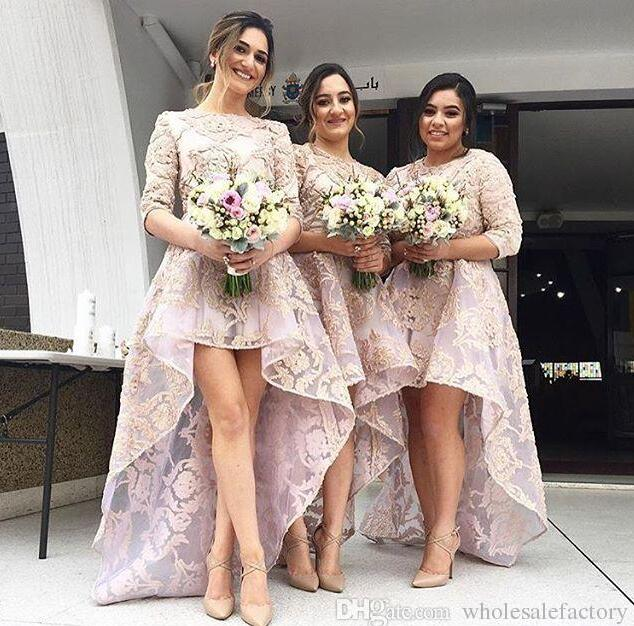 Aliexpress.com : Buy Unique Design Lace Hi Lo Bridesmaid Dresses ...