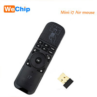 10 PCS i7/i7 laser Mini Fly Air Mouse 2.4Ghz Wireless Remote Control for PC/Smart tv/Android Box/PS3 Motion Sensing Gamer