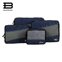 4 Pcs Set Nylon Unisex Packing Cubes For Packing Lightweight Luggage Travel Bags For Shirts Waterproof