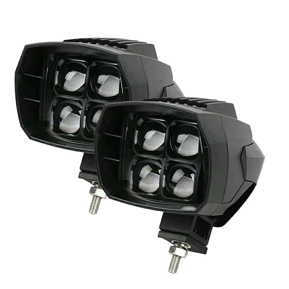 Yait 2 pièces 12 V-24 V LED étanche IP68 conduite feux de croisement feux de route moto Offroad voiture camion LED phares auxiliaires