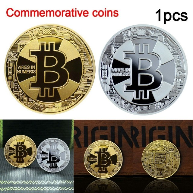 1 PCS Silve/Gold Plated Bitcoin Litecoin Ripple Dash Coins Commemorative Coins  Art Collection