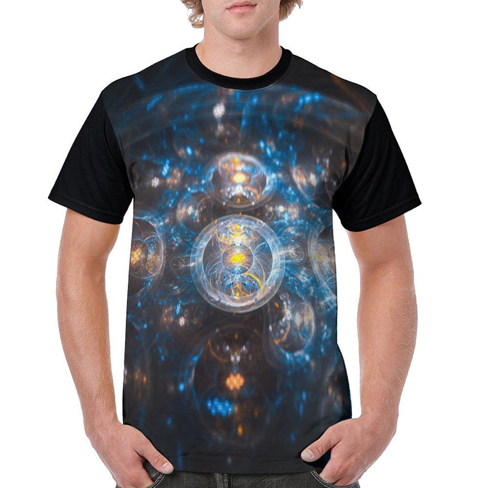 SAMCUSTOM Men T full printing cryptocurrency personalized creative casual spring, summer and autumn men's short sleeve T-shirt 3