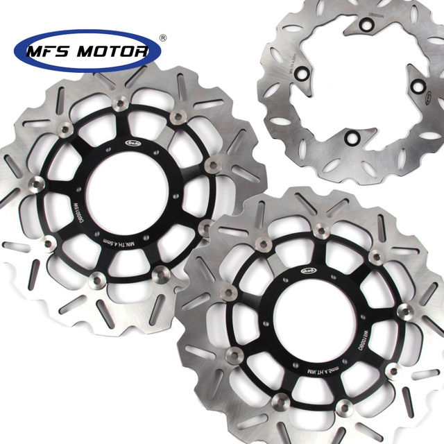 CNC Front/Rear Brake Discs For HONDA CBR600RR 2003 2015 Motorcycle Floating Brake Disc Rotor CBR 600 RR  600RR|Brake Disks|   -