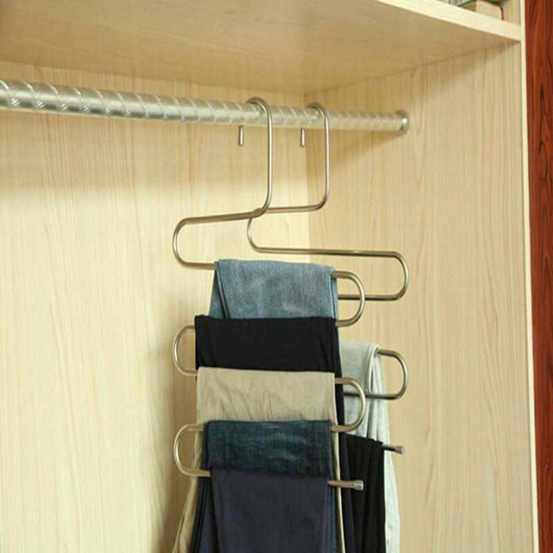 S Type Pants Rack Metal Trousers Hanger Clothing Store Multiple Layers Storage  Pants Rack Closet Belt Holder Rack ZA5856 In Hangers U0026 Racks From Home ...